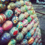 Kiev. Easter Eggs Instillation.